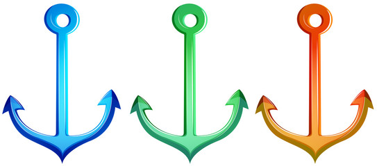 Colourful anchors