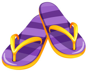 A pair of purple sandals