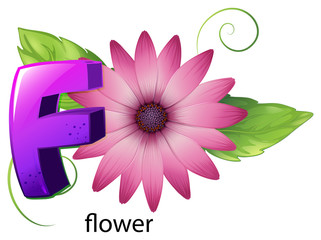 A letter F for flower
