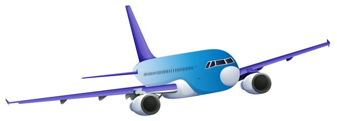 A blue plane
