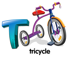 A letter T for tricycle