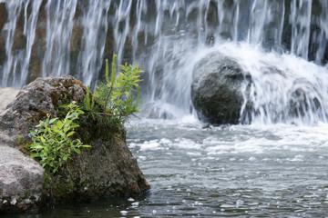 Waterfall, nature, stone