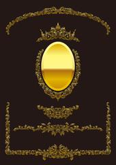 金色のフレーム