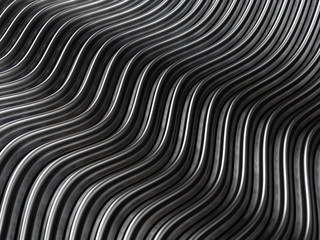 Silver abstract curve metal background