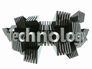 Silver metal technology sign abstract