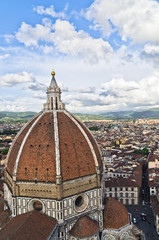 View of Florence from tower of Santa Maria cathedral, Tuscany