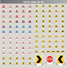 traffic signs big set