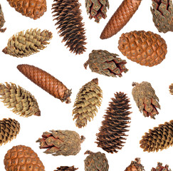 seamless background from isolated cones