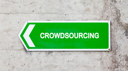 Green sign - Crowdsourcing
