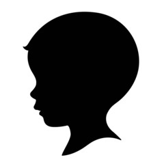 kid, boy head silhouette