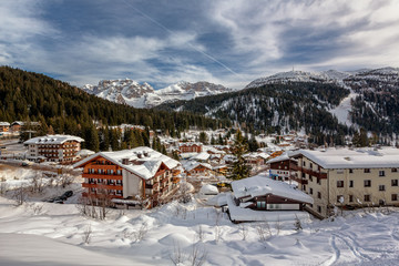 Ski Resort of Madonna di Campiglio, View from the Slope, Italian
