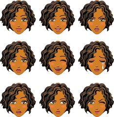 Facial expression of woman (African Descent)