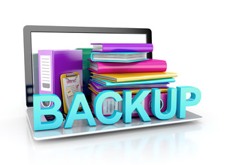 backup concept. files in database