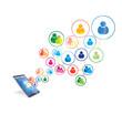 Social network connection design