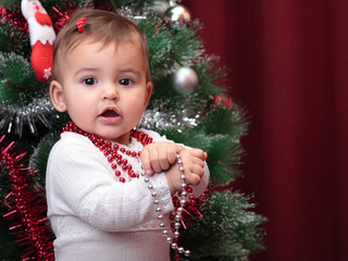 beautiful christmas baby