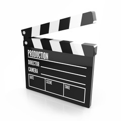 Clapper board - video icon isolated