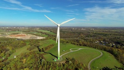 aerial view of wind turbine in munich, germany