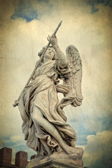 Statue of an angel - Castle of the Holy Angel  Rome Italy