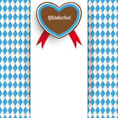 Bavarian Oktoberfest Flyer Centre Heart