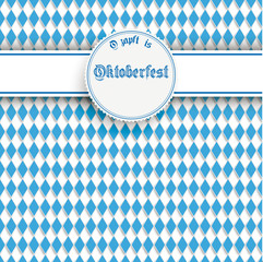 Bavarian Oktoberfest Flyer Banner Heart