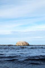 Stone in sea.