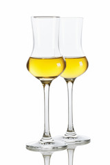 Golden Italian Grappa Brandy