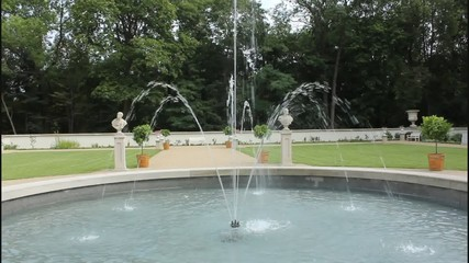 Fountain in park of Warsaw