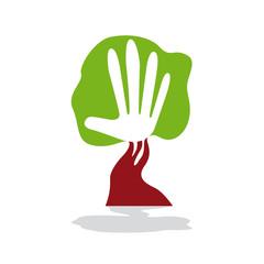 Vector Logo green hand