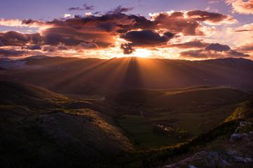 plateau of Campo Imperatore - Gran Sasso, Abruzzo, Italy