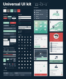 Universal UI Kit for designing websites & mobile apps poster
