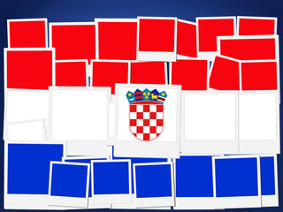 An illustration of the flag of Croatia, photo frame