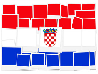 An illustration of the flag of Croatia, photo frame