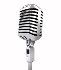 Retro microphone. isolated on white
