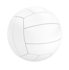 Volleyball isolated on white. 3d illustration