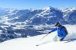 Neuschnee in den Kitzbueheler Alpen