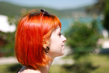 Red Hair Girl in Abdau Durso, Novorossijsk