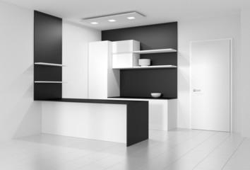 Küche hochglanz eingebaut modern
