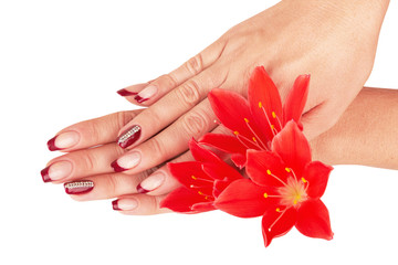 nail red manicure