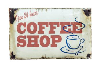 Retro Vintage Coffee Shop Sign