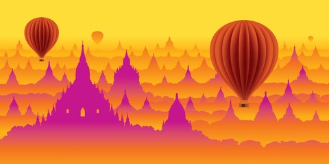 myanmar,panorama,balloon,exclusive
