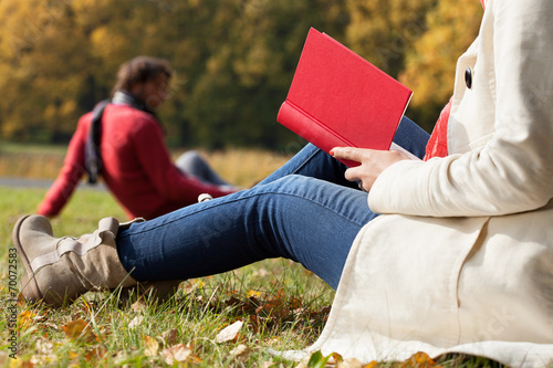 canvas print picture Autumn relax on fresh air