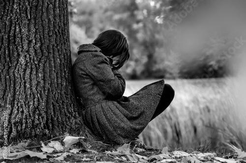 canvas print picture Autumn sadness