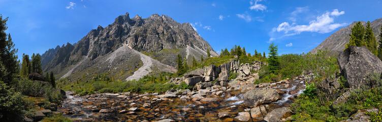 Small mountain river in Siberia