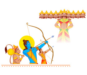 Rama killing Ravana during Dussehra