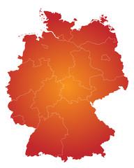 Bundesländer in rot