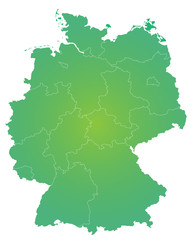 Bundesländer in grün