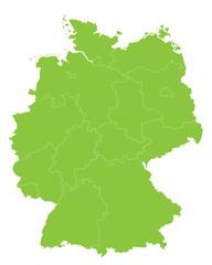 Bundesländer in hellgrün