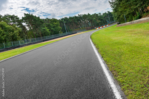 Fototapeta motorsport rennstrecke in zolder belgien