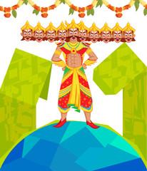 Ravana with ten head for Dussehra