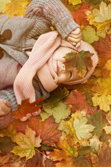 little child with leaf